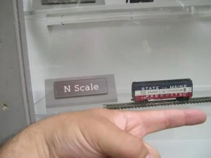 sizes of model trains: N scale