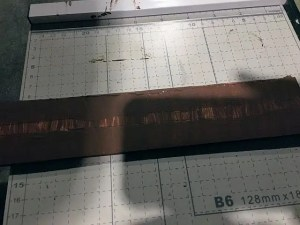 Make O27 track ties out of foamcore board
