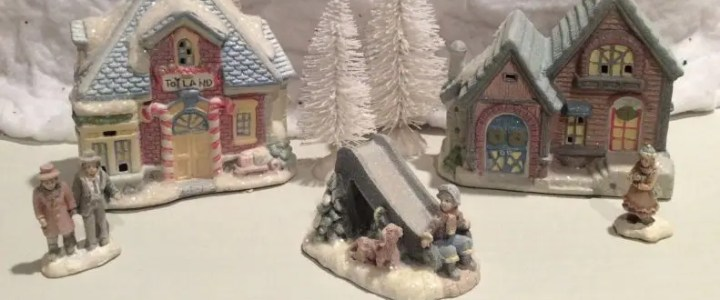 An HO scale Christmas village