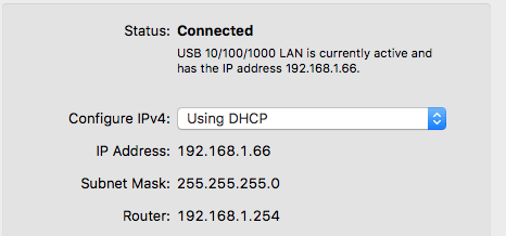 how to find my router IP on Mac OS X