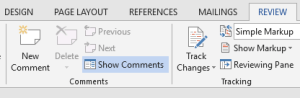 How to remove all comments in Word