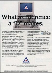 Leading Edge computers ad