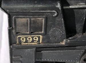 Marx 999 logo on cab