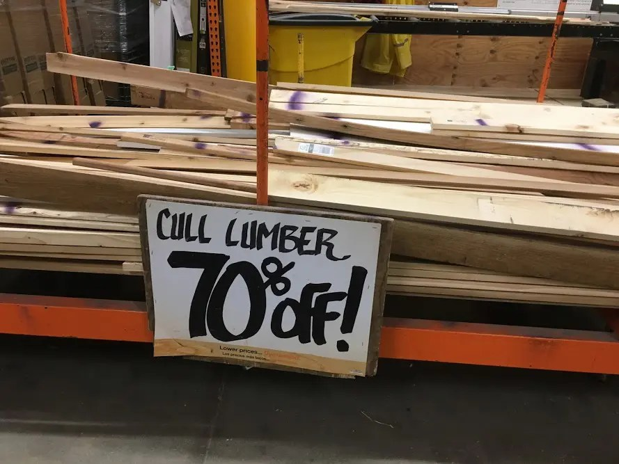 Buying Cull Lumber At Home Depot The Silicon Underground