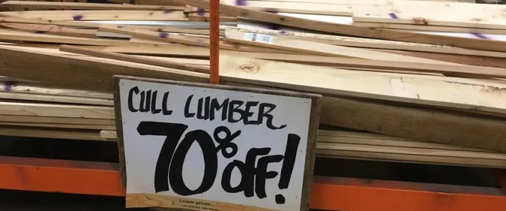Buying Cull Lumber at Home Depot