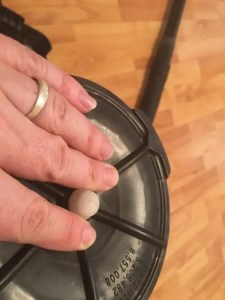 Shop vac blowing dust out the back? Make sure the filter is secure.