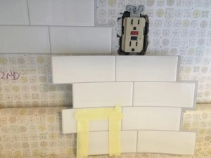 tile over Formica backsplash