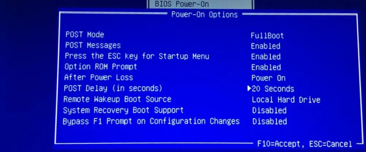 Enter BIOS setup in HP computers