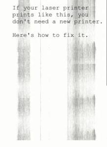 laser printer streaks