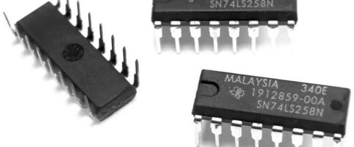 MOS 74LS logic chips