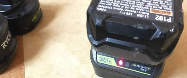 Ryobi battery won't charge? Two possible fixes