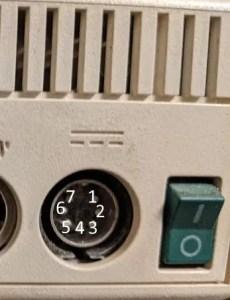 Apple IIc power supply pinout