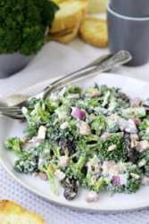Broccoli salad. Close up.