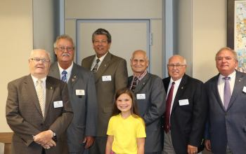 Dacy Freeman Shriners Kid with Lexington Shriners Hospital Board of Governors