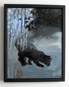 Fiorito.''Le Chat,17-10-2016''. Acrylique sur toile. 14x18po (36x46cm).