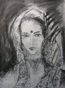 Kerala Femme au sari