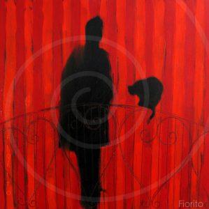 """""""Le chat de Guido Molinari"""", 2008. Huile sur panneau, 12 x 12 po. (30,4 x 30,4 cm)."""