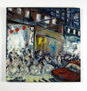 """""""Shanghai, 1997"""". Huile sur toile 24 x 24 po, (61 x 61 cm)."""