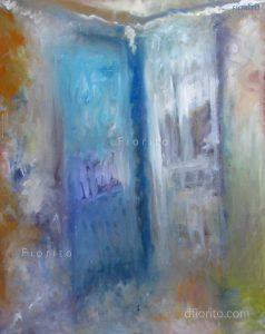 """""""Les portes, rue Hutchison"""". 1996 Huile sur toile, 24 x 30 po. (61 x 76,2 cm)."""