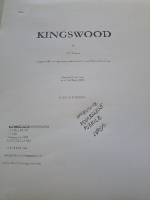 "During the two-day workshop, these four words  were used to describe ""Kingswood"" — and upon hearing them I felt inordinately proud."
