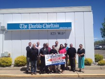 Pueblo Chieftain workers showing support (Colorado).