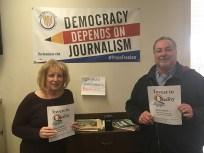 Trentonian advertising employees Sandy Hopkins and Mark Verseput