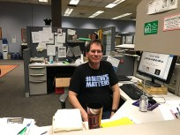 Staff at the Daily Freeman (Kingston, NY) in solidarity on May 8 tell Alden to Invest or Sell.