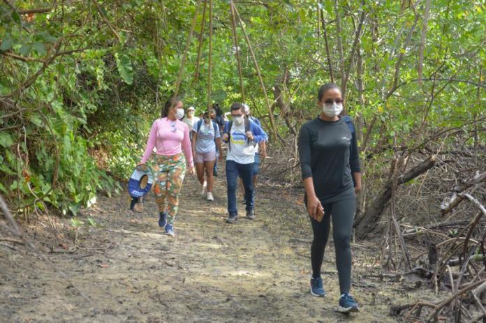 Visita técnica ao Povoado Canto, na Ilha de Cururupu, na Raposa (Foto: Divulgação)