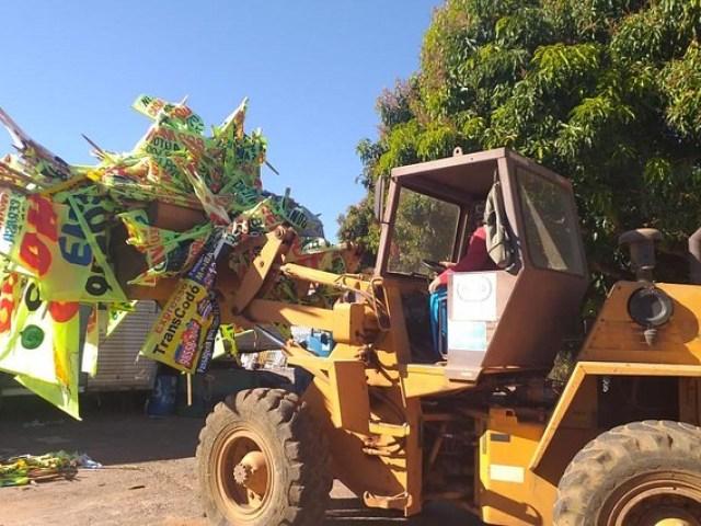 Setor de Indústria e Abastecimento retira das ruas 322 toneladas de lixo