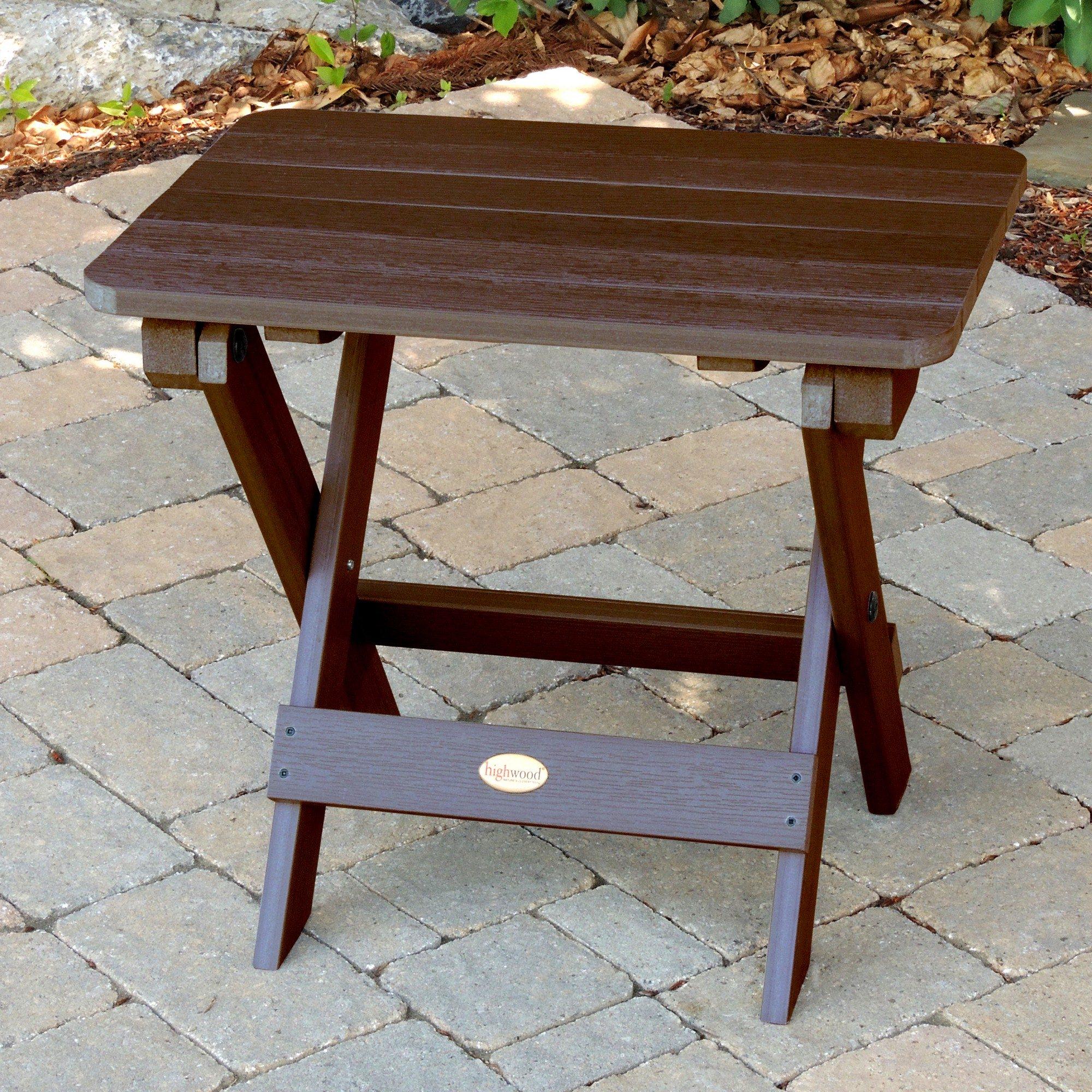 Folding Adirondack Side Table Highwood