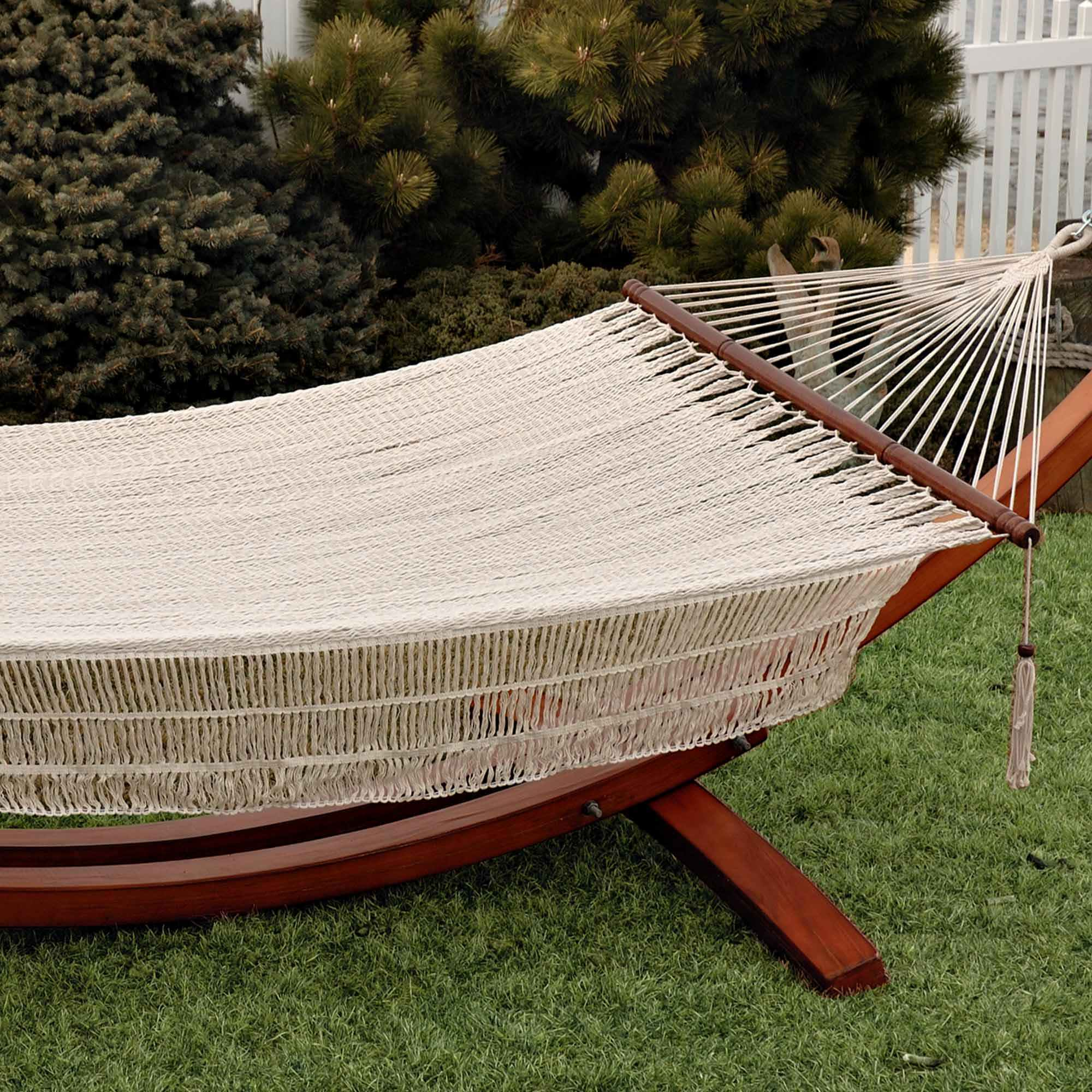 Bliss Hammocks Rope Hammock In Canvas White