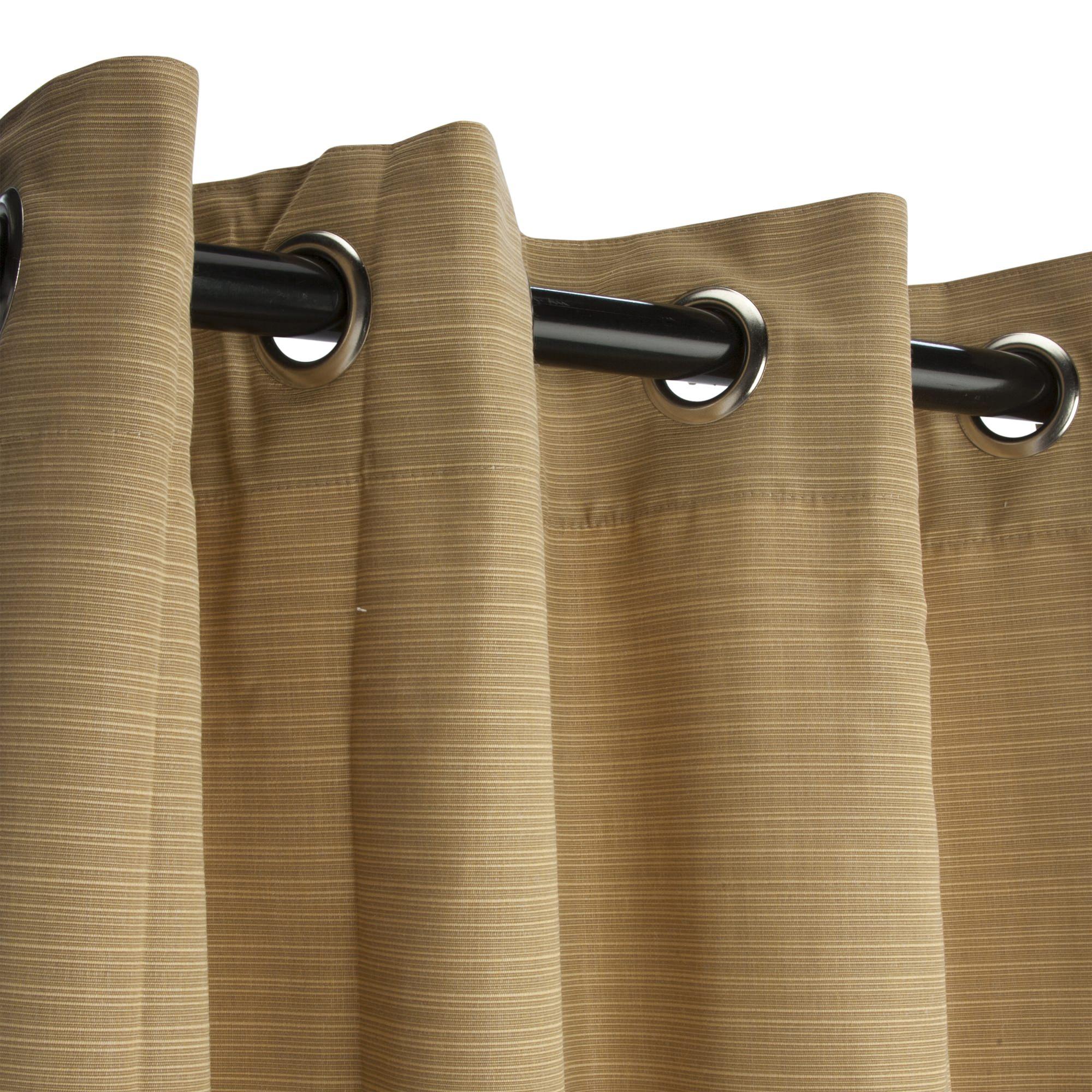 dupione bamboo sunbrella nickel grommets outdoor curtain