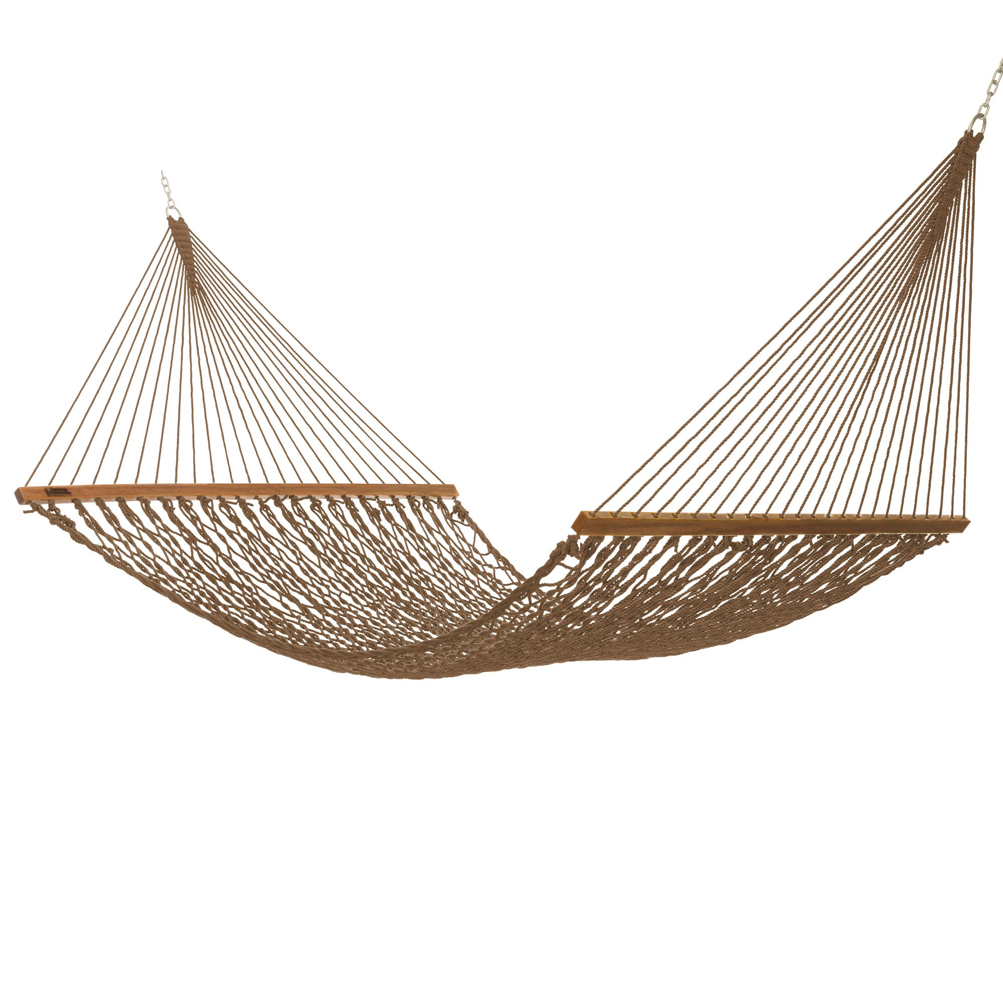 Executive Duracord Rope Hammock In Antique Brown