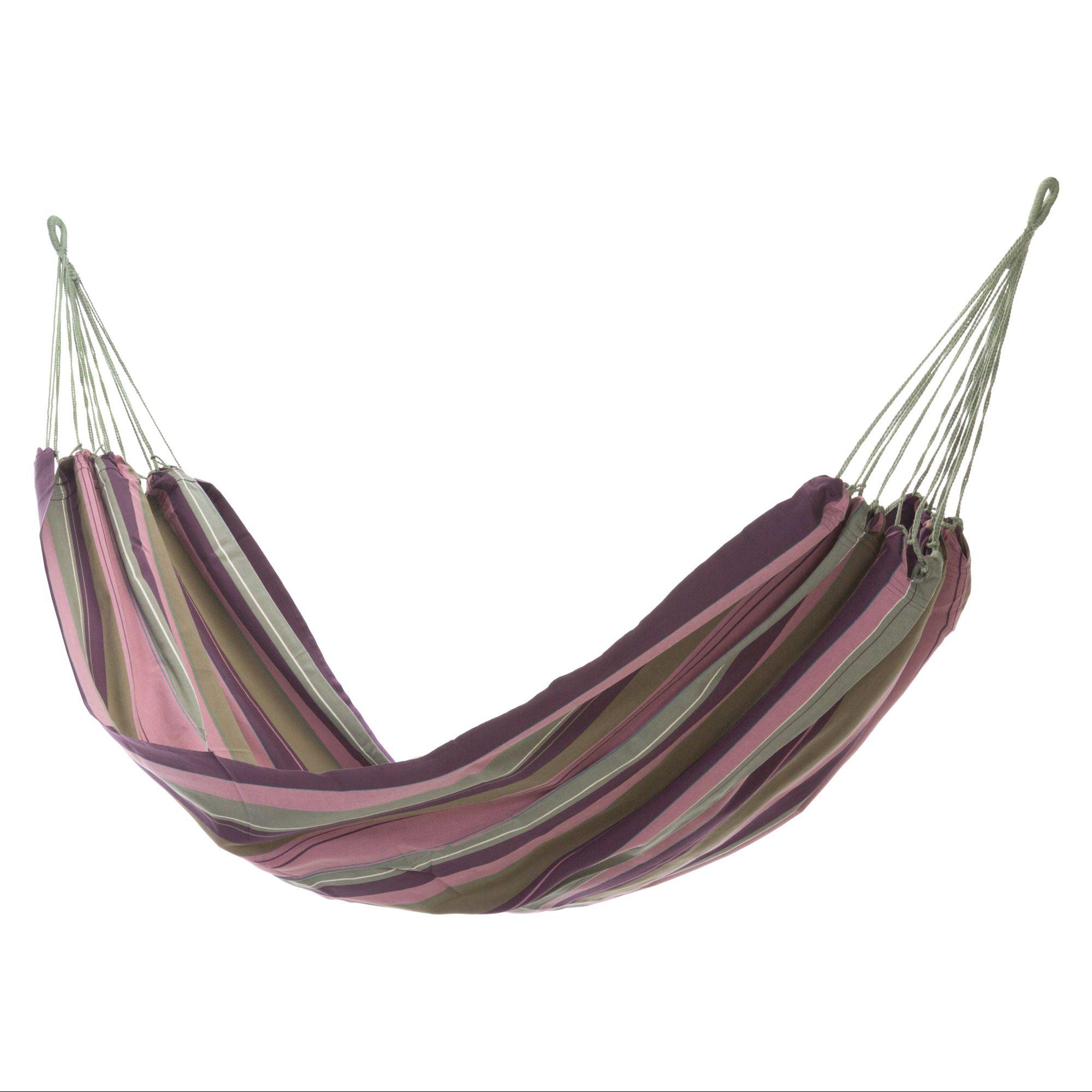 El Salvador Lavender Stripe Fabric Hammock