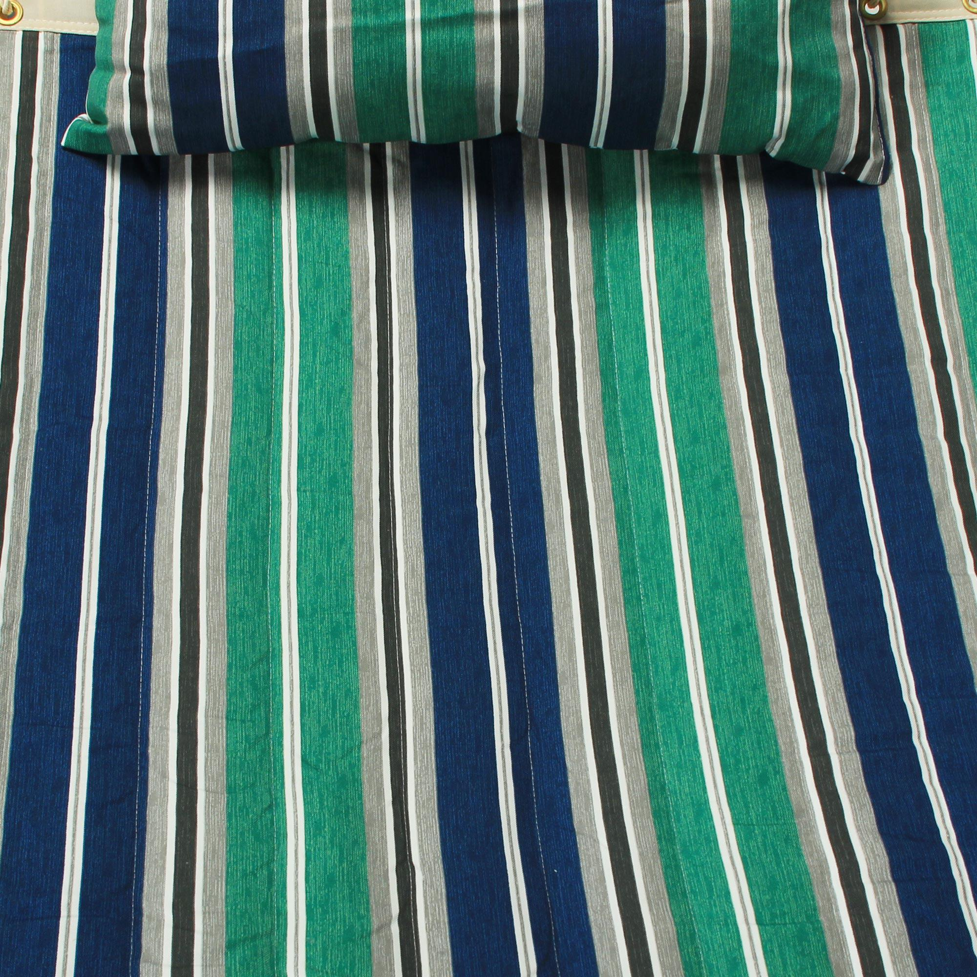 Large Blue Amp Green Stripe Quilted Hammock
