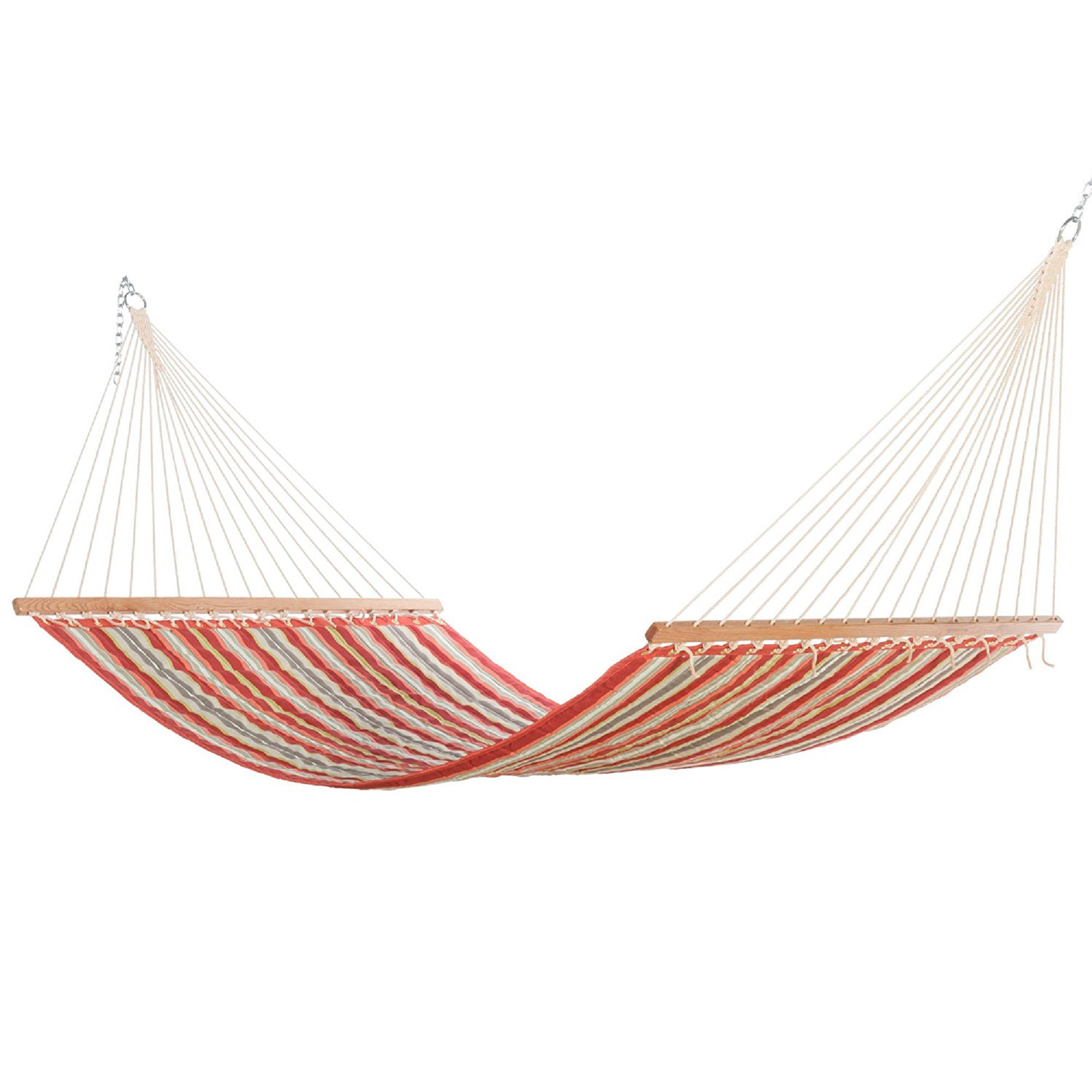 Large Red Amp Orange Stripe Quilted Hammock