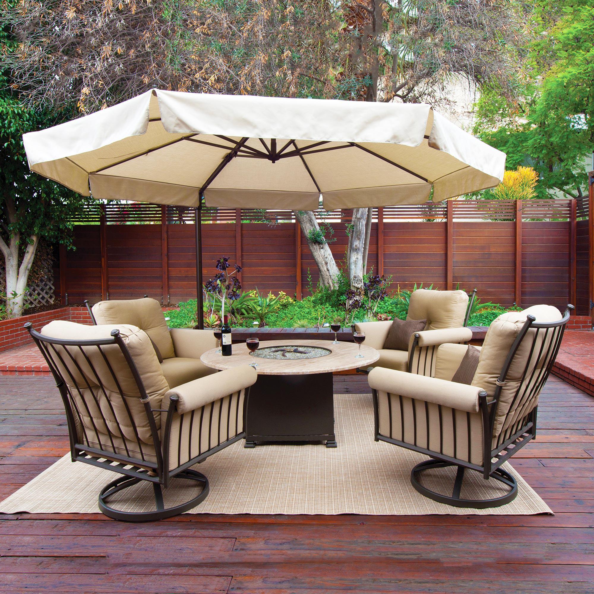 Bali 11 Ft Octagon Solefin Cantilever Umbrella With