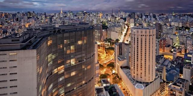 Brazil, Sao Paulo, Edificio Copan by Oscar Niemeye