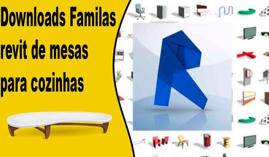 Downloads Familas revit de mesas para cozinhas downlaod de familias revit para usar em proejtos grande e pequenos que possam usar familias parametricas