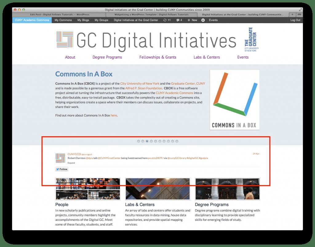 GCDI Homepage