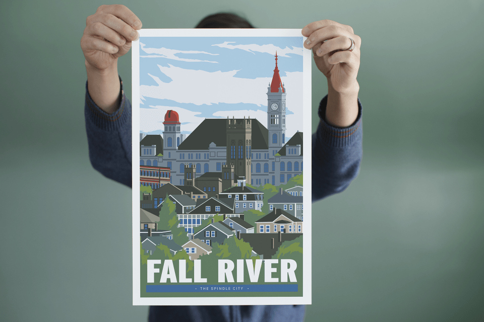 Fall River Travel Poster