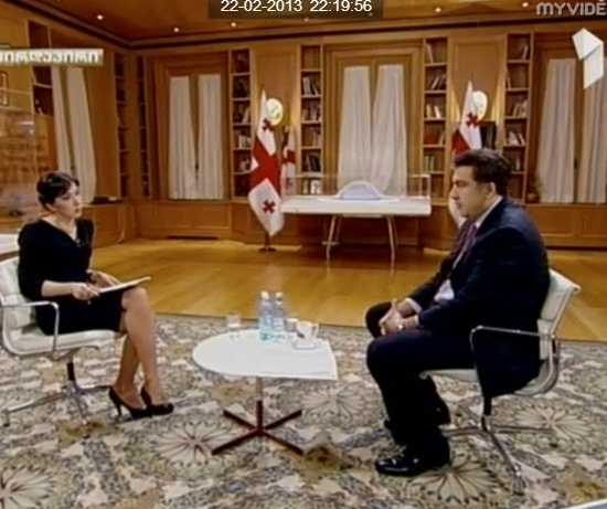 Mikheil Saakashvili - Channel 1 talk show - 2013-02-22