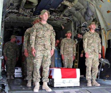 coffins ISAF