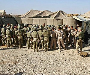 Georgian ISAF soldiers Afghanistan