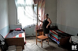 A room, where four persons are living (DF Watch photo)
