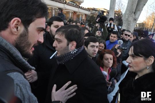 Former political prisoner Melor Vachnadze (left) and Tamar Khachapuridze (right) (DFWatch)