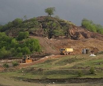 Sakdrisi mining site. (Photo taken by Green Fist.)