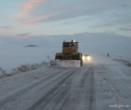 Weather created difficulties on roads of Georgia over the few days (Road Department photo)