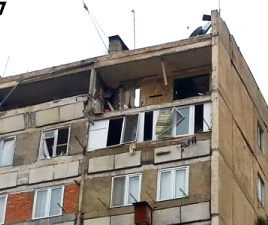 Apartment ruined by explosion