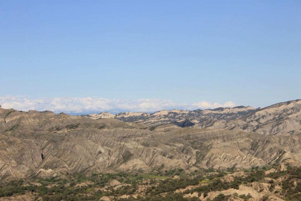 Landscape of Vashlovani on the way to Alazani river.